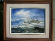 HMCS Galiano 9in x 12in $750.  Please scroll down for information.